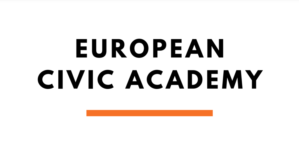 """Event from the European Civic Academy, entitled """"Dialogue between civil society and institutions: lost in translation?"""" CDT's Iverna McGowan moderates."""