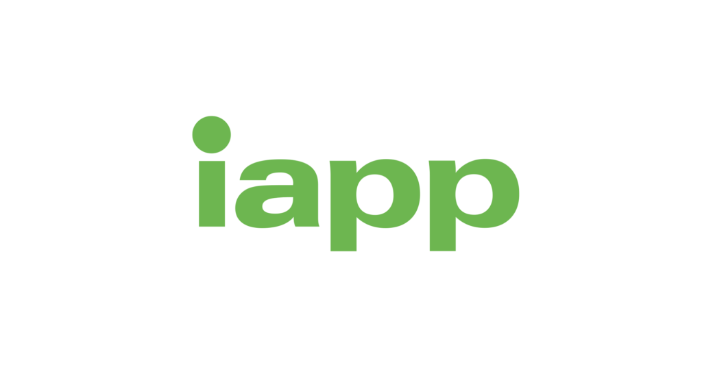 Logo for the International Association of Privacy Professionals. Green logo on a white background.