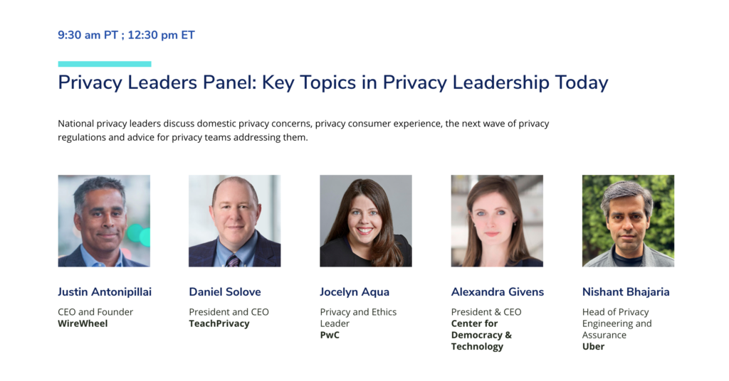"""CDT CEO Alexandra Givens, talking at the Spokes 2021 Privacy Conference'sprivacy leaders panel entitled """"Key Topics in Privacy Leadership Today."""""""